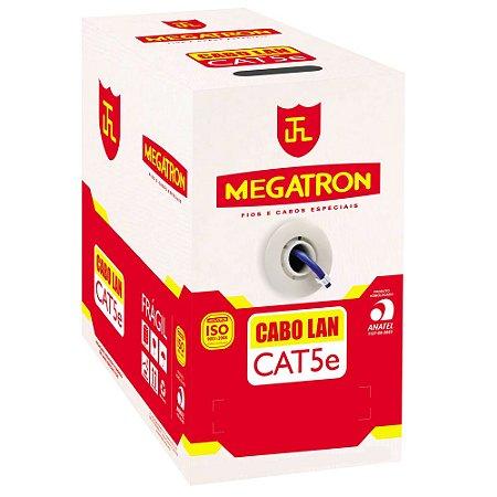 Cabo Rede Lan Utp Cat5e 4 Pares Azul Anatel 305m - Megatron