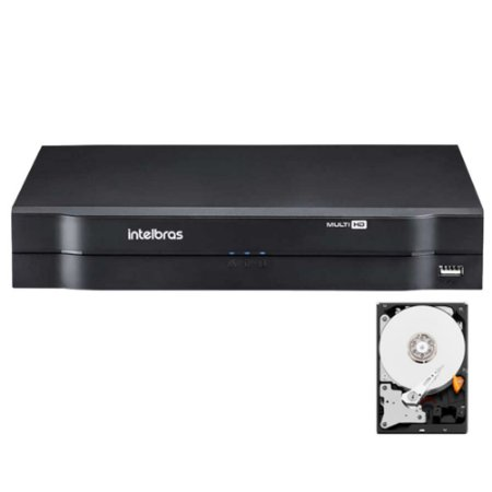 Dvr Intelbras 4 canais Mhdx 1104 Multi HD + HD 500GB