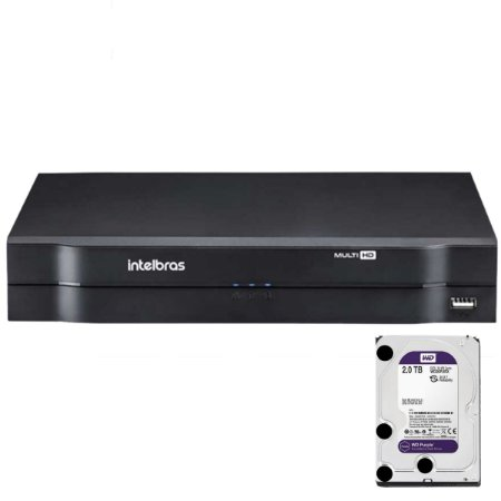 Dvr Intelbras 16 canais Mhdx 1116 Multi HD + HD 2TB Purple