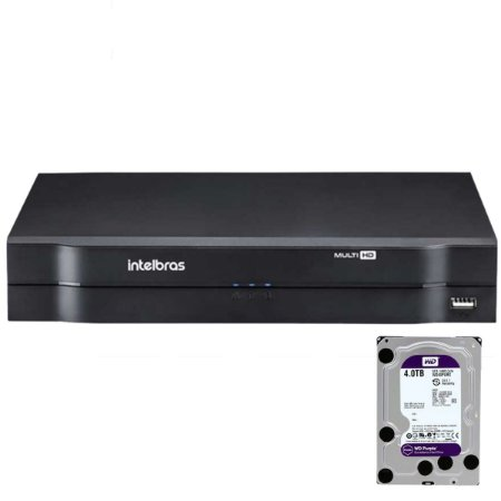 Dvr Intelbras 16 canais Mhdx 1116 Multi HD + HD 4TB Purple