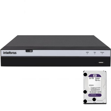 Dvr Intelbras 4 canais Mhdx 3104 Full HD + HD 2TB Purple