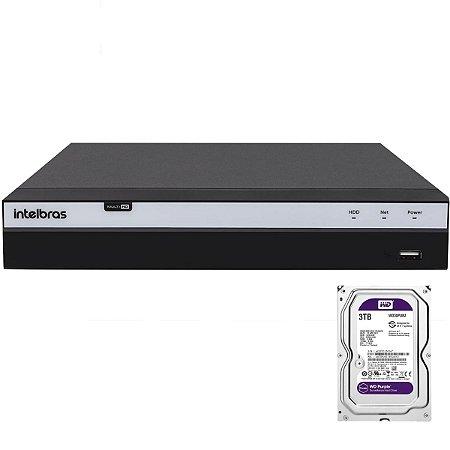 Dvr Intelbras 4 canais Mhdx 3104 Full HD + HD 3TB Purple