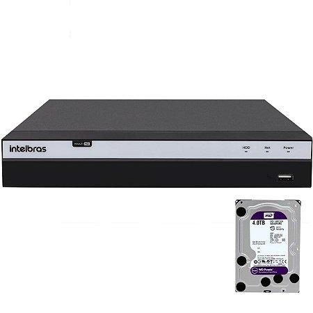 Dvr Intelbras 4 canais Mhdx 3104 Full HD + HD 4TB Purple