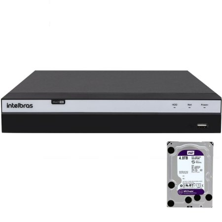 Dvr Intelbras 8 canais Mhdx 3108 Full HD + HD 4TB Purple