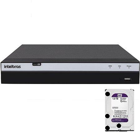Dvr Intelbras 16 canais Mhdx 3116 Full HD + HD 1TB Purple