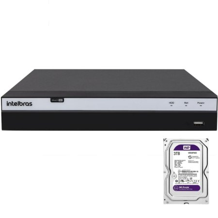 Dvr Intelbras 16 canais Mhdx 3116 Full HD + HD 3TB Purple