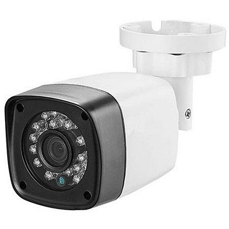Camera Bullet Cftv HD 720p 1MP IR 25M Lente 2,8mm 3 em 1