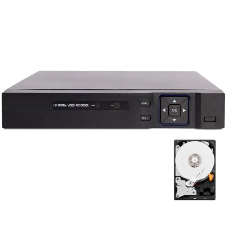 Dvr 8 Canais Ahd 1080n Audio Cloud P2p 1080p Lite + HD 1TB