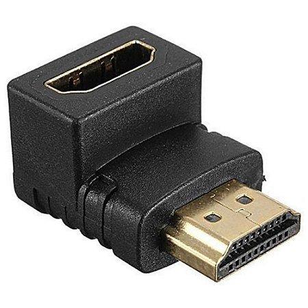 Adaptador Conector Hdmi 90 Graus em L Macho X Fêmea P/ Tv