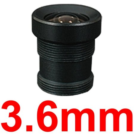 Mini Lente 3.6mm Para Mini Câmera e Micro Câmera - Lente Cftv