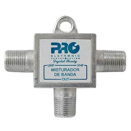 Misturador De Antena Banda Vhf + Uhf PQMB-2300B - Proeletronic