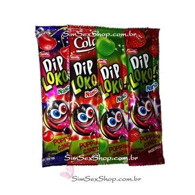 Dip Loko! Popping Candy bala efervescente que explode na boca 1 unidade