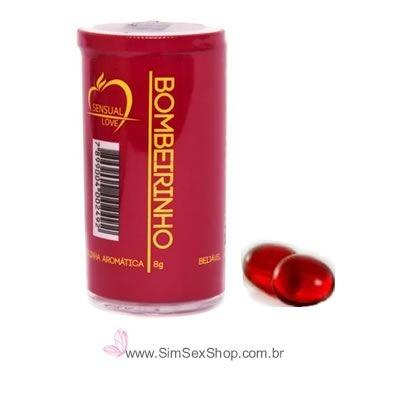 Bolinha sensual Drink Especial Bombeirinho óleo lubrificante beijável com 2 unidades
