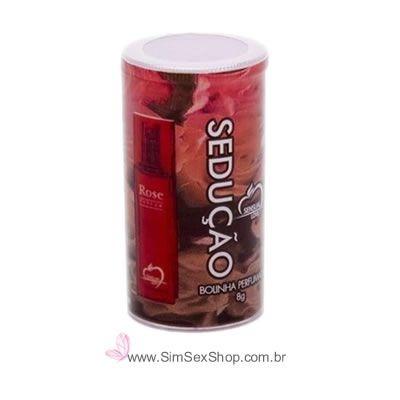 Bolinha explosiva perfumada Sedução óleo lubrificante corporal 2 unidades