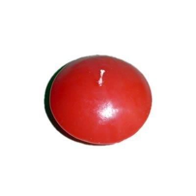 Vela flutuante em formato de disco 6 x 3 cm vermelha