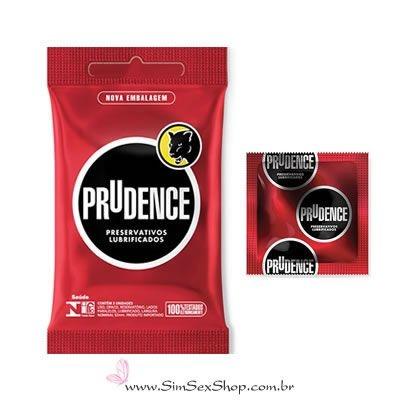 Preservativo Prudence lubrificado 3 unidades