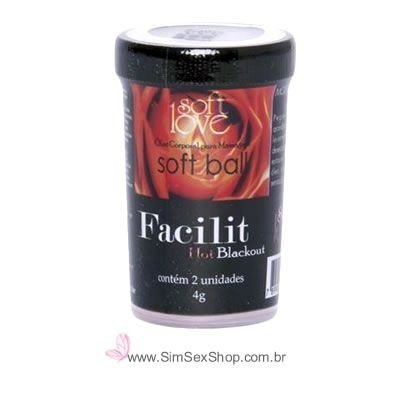 Bolinha Facilit Blackout Hot anestésico anal lubrificante vasodilatador e cicatrizante 8 g