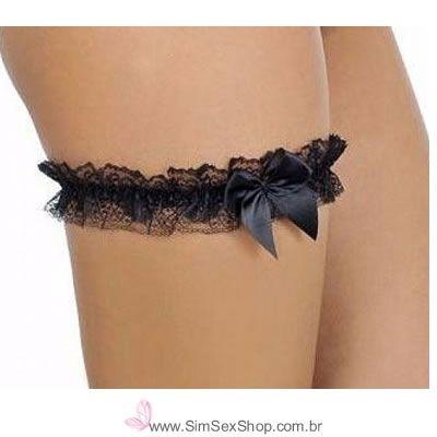 Persex em tule fino rendado com laço de cetim cor preta
