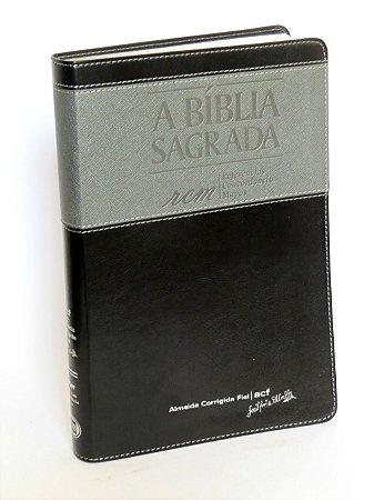 A Bíblia Sagrada Capa Preta com Prata - RCM