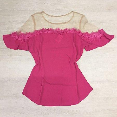 Blusa Pink De Seda Morina