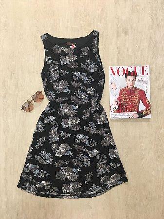 Vestido Flor Black