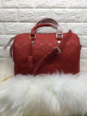 Bolsa Louis Vuitton Red Speedy Bandoulière 30