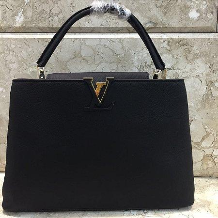 Bolsa Louis Vuitton Capucines MM Tote Black