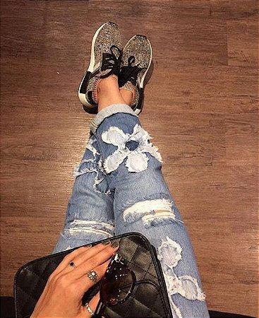 Calça Jeans Flores
