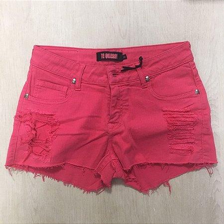Short Jeans Salmão