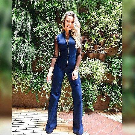 Macacão Jeans Flare Bebella
