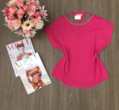 Blusa Pink Strass Morina