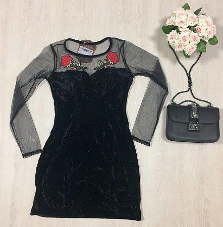 Vestido Veludo Black
