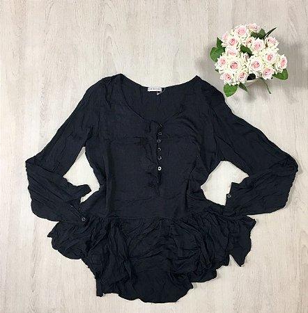 Blusa Babado Black