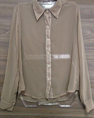 Camisa Seda Transparente Bonequinha