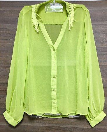 Camisa Green Franjas Lally