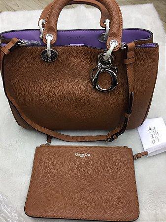 Bolsa Couro Dior Brown