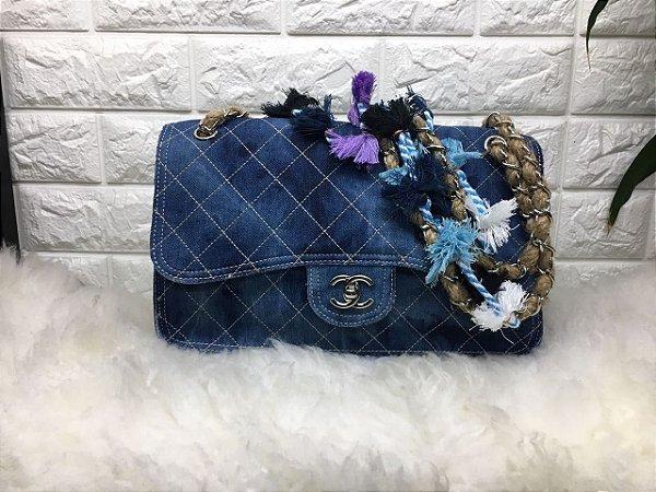 Bolsa Chanel Blue Jeans Média