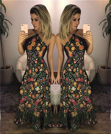 vestido Longo Florido Closet