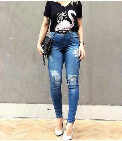 Calça Jeans Destroyed Skinny Bebella
