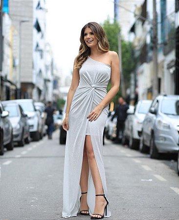Vestido Com Fenda Ariane Talgui