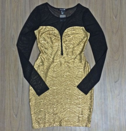 Vestido Gold Forever 21