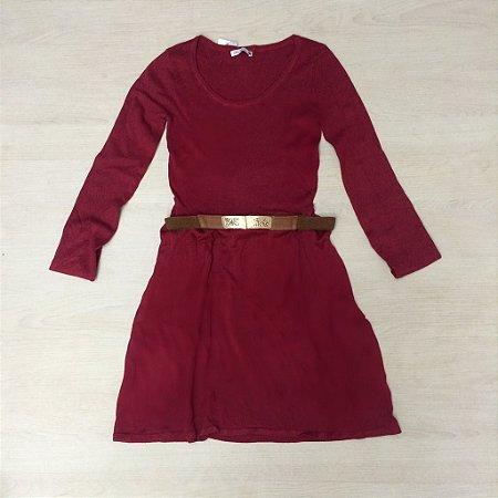 Vestido Tricozinho Marsala