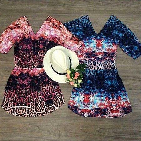 Vestido Mix Estampado
