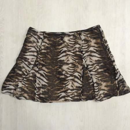 Saia De Seda Animal Print