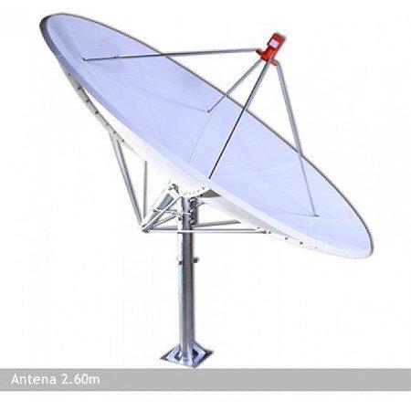 Antena Parabólica de Fibra 2,60 m Lerosat