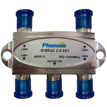 Chave Diseqc 2.0 4x1 Phenom