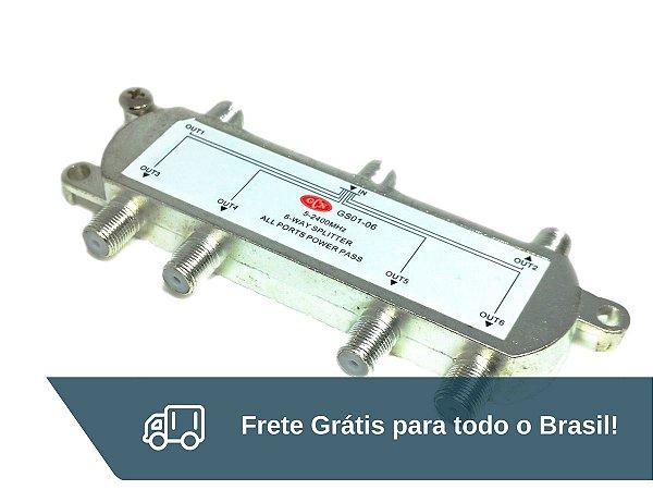Chave Divisora De Alta Frequência 6x1 GCN - Frete Grátis