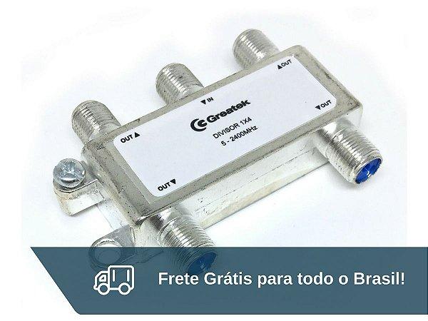 Chave Divisora de Alta Frequência 4x1 Greatek - Frete Grátis