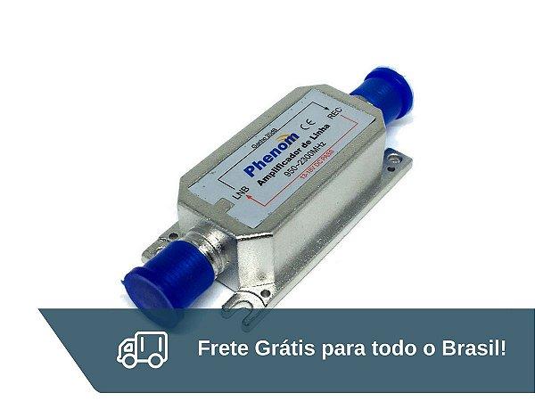 Amplificador de Linha Satélite 20dB Phenom - Frete Grátis