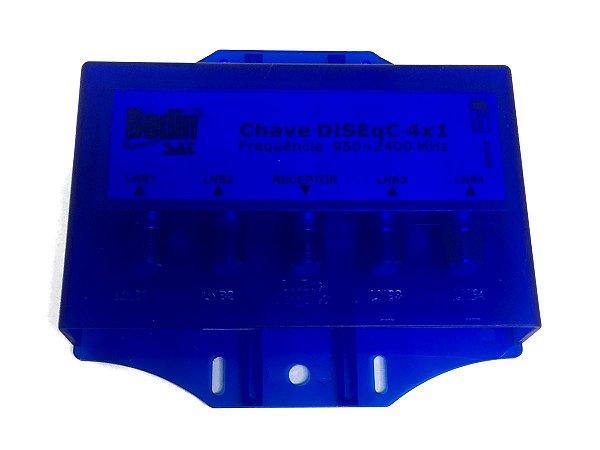Chave Diseqc Bedin 4 Saídas C/ Protetor A Prova D'água 2.0